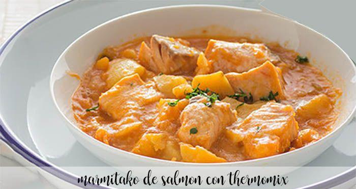 Marmitako de salmón con Thermomix