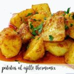 Patatas al ajillo con Thermomix