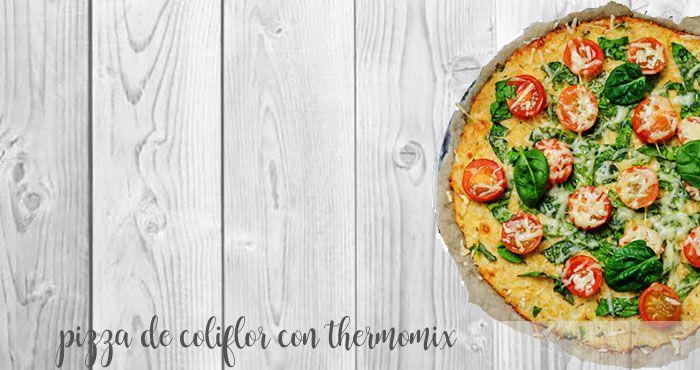 Pizza de coliflor thermomix