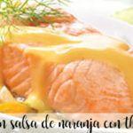 Salmón en salsa de naranja con thermomix