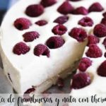 Tarta de frambuesas y nata con thermomix