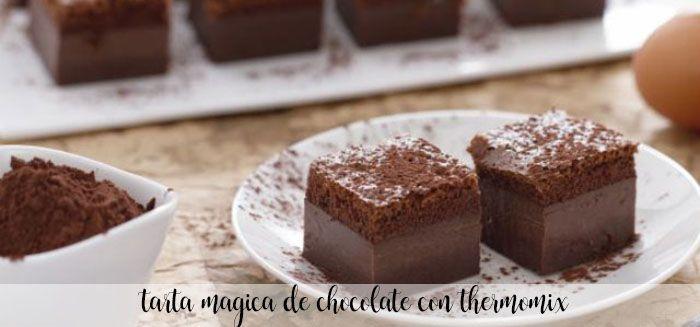 Tarta Mágica De Chocolate Con Thermomix