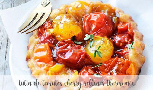 Tatin de tomates cherry rellenos con thermomix