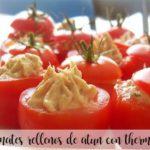 Tomates rellenos de atún con Thermomix