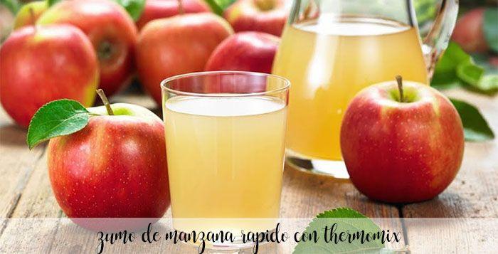 Zumo de Manzana rápido con thermomix
