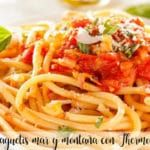 Espaguetis mar y montaña con Thermomix