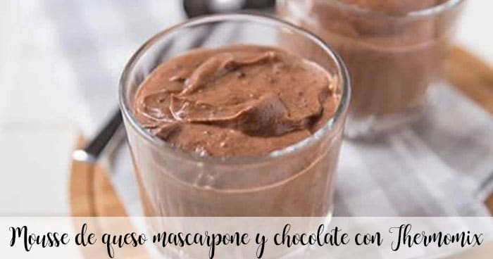 Mousse de queso mascarpone y chocolate con Thermomix