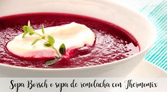 Sopa Borsch o sopa de remolacha con Thermomix