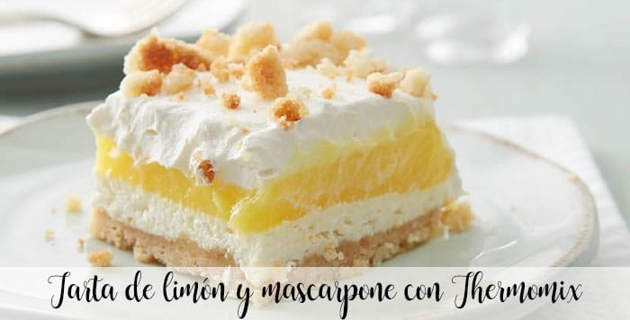 Tarta de limón y mascarpone con Thermomix