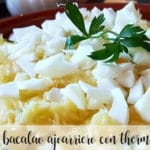 bacalao Ajoarriero con thermomix
