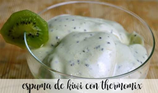 Espuma de kiwi con thermomix