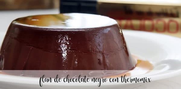 Flan de chocolate negro con Thermomix