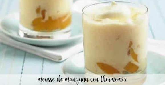 Mousse de manzana con thermomix