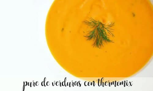 Pure de verduras con thermomix