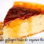 Quesada gallega o tarta de requesón con thermomix