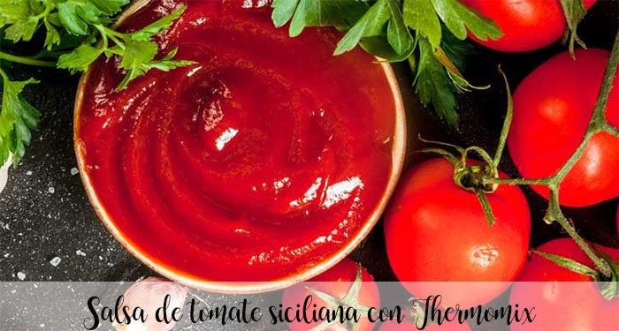 Salsa de tomate siciliana con Thermomix