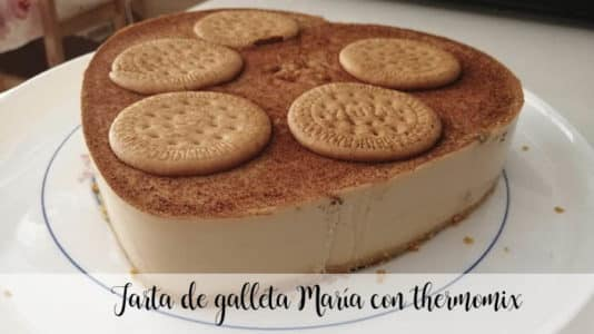 Tarta de galleta María con thermomix