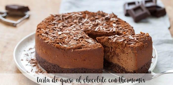 tarta de queso al chocolate con thermomix