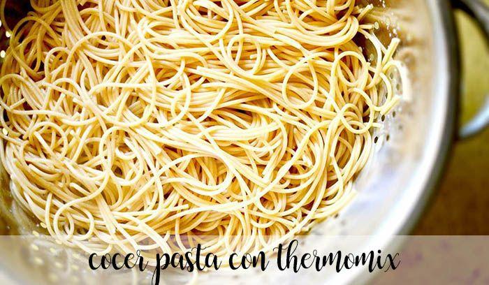 cocer pasta con thermomix