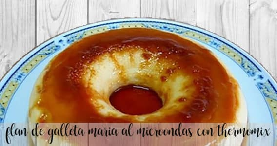 Flan de galletas Maria al microondas con thermomix