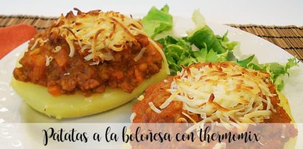 Patatas a la boloñesa con thermomix