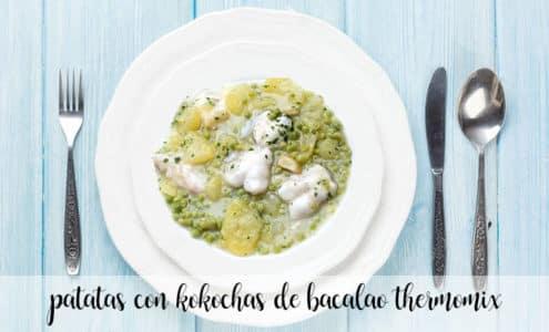Patatas con cocochas de bacalao con thermomix
