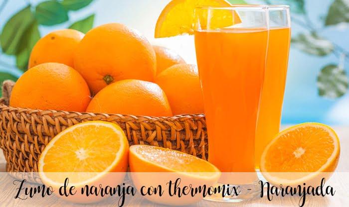 Zumo de naranja con thermomix - Naranjada
