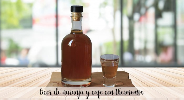 Licor de naranja y cafe con thermomix