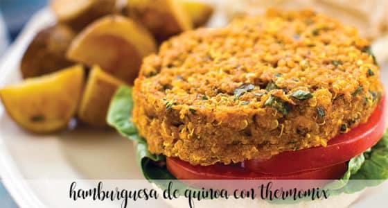 Hamburguesa de quinoa con Thermomix