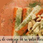 Palitos de cangrejo en salsa con Thermomix