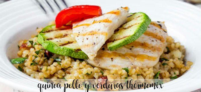Quinoa con pollo y verduras con thermomix