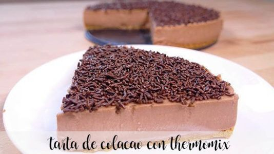 Tarta de ColaCao con Thermomix