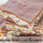 Barritas Kínder chocolate con thermomix