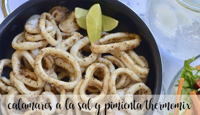 Calamares a la sal y pimienta con thermomix