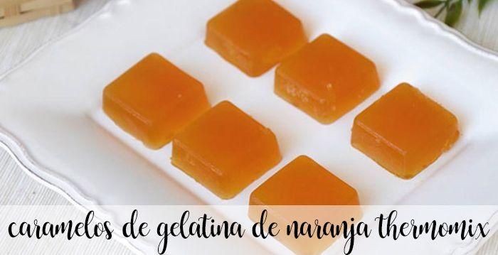 Caramelos de gelatina y naranja con Thermomix