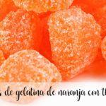Caramelos de gelatina de naranja con thermomix