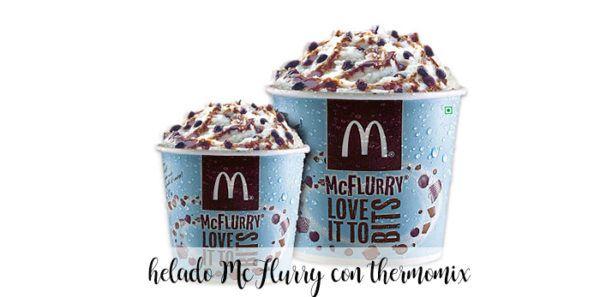 Helado MCFlurry de MCdonalds casero con thermomix