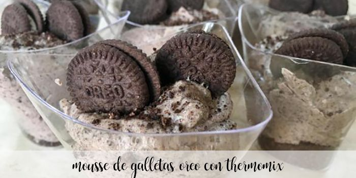 Mousse de galletas Oreo con Thermomix