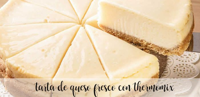 Tarta de queso fresco con thermomix