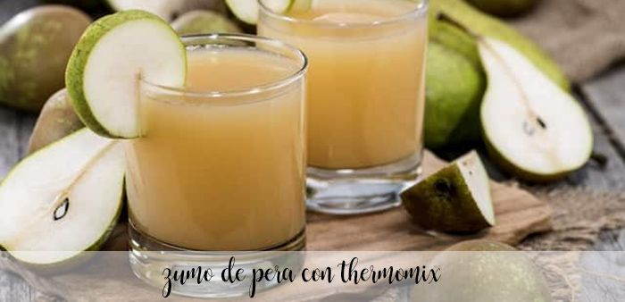 zumo de pera con thermomix