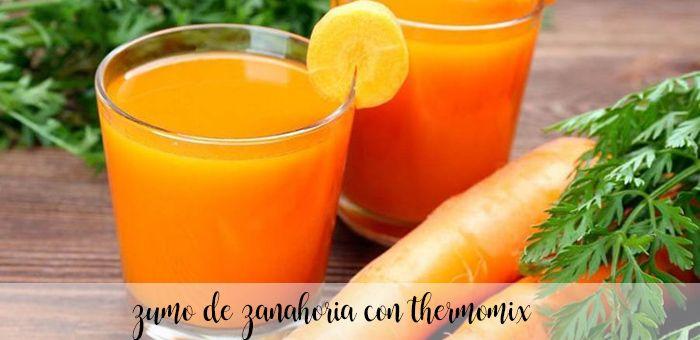 Zumo de Zanahoria con thermomix
