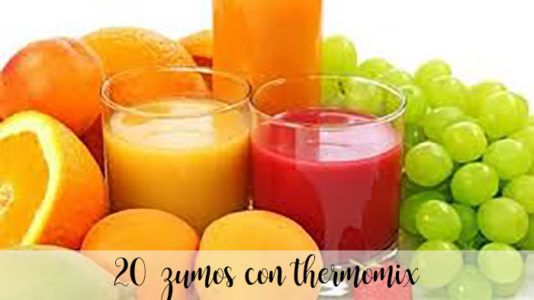 20 zumos con thermomix