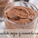 Mousse de chocolate negro y caramelo con Thermomix