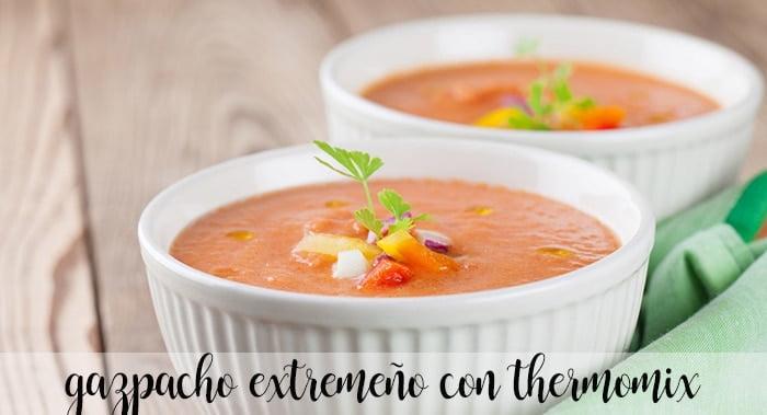 Gazpacho extremeño con thermomix