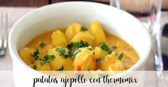 Patatas en ajopollo con thermomix