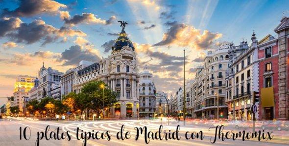 15 platos tipicos de Madrid con Thermomix