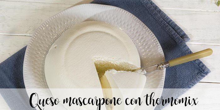 Queso mascarpone con thermomix