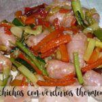 Salchichas con verduras con thermomix