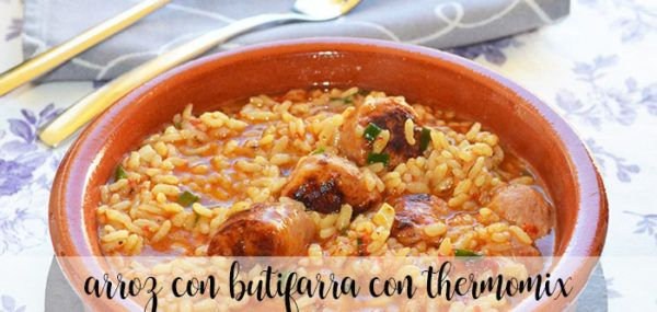 Arroz con butifarra con Thermomix