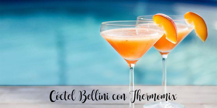 Cóctel Bellini con Thermomix